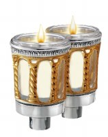 """Gold Silver Plated Neronim Holders Palace Design 3"""""""