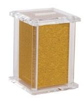 "Acrylic Tzedakah Charity Box Shimmer Design Gold 5"""