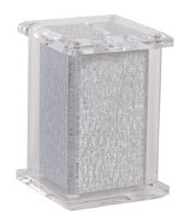 "Acrylic Tzedakah Charity Box Shimmer Design Silver 5"""