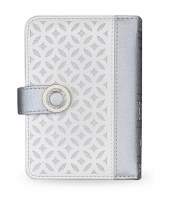 Siddur Eis Ratzon with Tehillim Faux Leather Lacey Silver and White Design Edut Mizrach