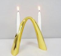 """Candelabra Contemporary Arch Design Gold 7.75"""""""