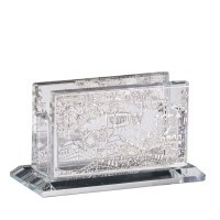 Crystal Mini Match Box Holder Jerusalem Design