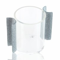 Lucite U Collection Washing Cup Silver Glitter