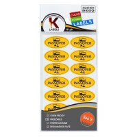 Passover English Stickers Yellow 18 Pack