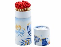 Long Matches in Drum Chanukah Design Blue 40 Count