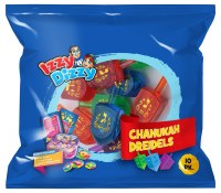 Colorful Glitter Dreidels 10 Pack with Play Money Coins