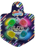 Glow In The Dark Dreidels Medium Size Multi Color 4 Pack
