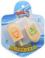 Wood Dreidels Extra Large Size 2 Pack