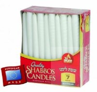European Shabbos Candles Burn Time 7 Hours 30 Pack