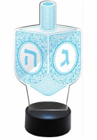 Light Up Acrylic Dreidel with Remote Control