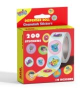Sticker Dispenser with 200 Chanukah Theme Stickers