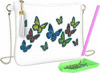 Diamond Painting Arts and Crafts for Kids Messenger Bag Butterfly Design