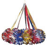 "Lantern 17"" Multicolored Foil Hanging Sukkah Decoration"
