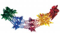 "Garland 12"" Multicolored Foil 9 Section Sukkah Decoration"