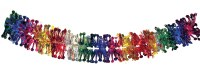 "Garland 6"" Multicolored Foil 36 Section Sukkah Decoration"