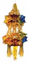 "2 Tier Lantern Sukkah Decoration Blue and Gold 12"""