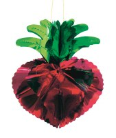 Large Strawberry Foil Hanging Sukkah Decoration #41