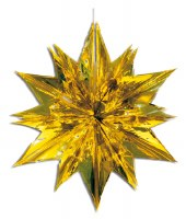 24 in. 6 Sections Star Burst Gold Sukkah Decoration #40