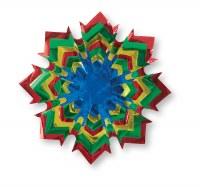 """Foil Star Sukkah Decoration Primary Colors 12"""""""