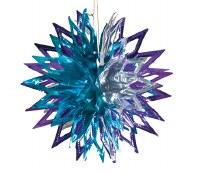 "Ball Purple/Silver 12"" Sukkah Decoration #30"
