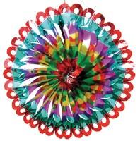 """Foil Multicolor 12"""" Sukkah Decoration #19"""