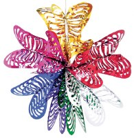 """Foil 16"""" Sukkah Decoration #10"""