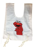 Cotton Tzitzis with Silk Screened Red Furry Character Design Size 2