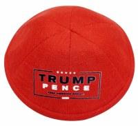 Yarmulke Trump Pence 2020 Logo Linen Red