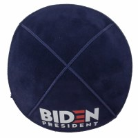 Yarmulke Biden President Logo Suede Navy Large Size
