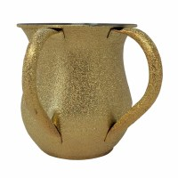 Stainless Steel Washing Cup Gold Color Foil Design