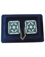 Chrome Tallis Clips Magen David