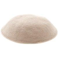 Cream Fine Knitted Kippah Serugah 16cm - A5