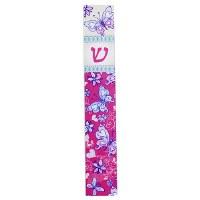 Mezuzah Case Perspex Pink Butterfly Design 12cm