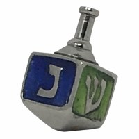 Aluminum Dreidel with Colored Sides - Assorted Colors