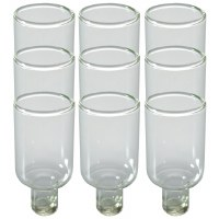 "Round Glass Oil Cups 9 Pack 1.8""H"