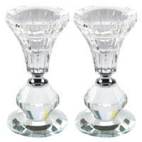 "Candlesticks Crystal Round Elegant Design 4.3"""