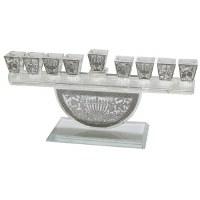 Crystal Menorah with Metal Plates Design