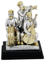 Silver and Gold Musicians on Stage Polyserine 4""