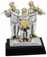 Silver Musicians on Stage Polyserine 4""