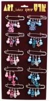 Baby Pins Hamsa Key Chain Pink or Blue - Order Includes One Pin