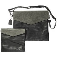 Tallis and Tefillin Bag Set Gray Faux Leather Flap Design