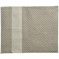 """Faux Leather Challah Cover Quilted Design Vertical Stripe Beige 20"""" x 16"""""""