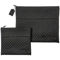 Tallis and Tefillin Bag Set Faux Leather Black Quilted Design
