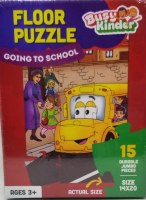 Busy Kinder Floor Puzzle Going To School Theme 15 Pieces