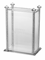 Crystal Bencher Holder Decorated with Crushed Glass Filled Stems