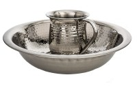 Wash Cup and Bowl Stainless Steel Hammered Design