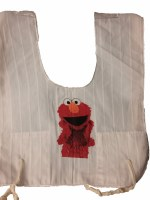 Cotton Tzitzis with Silk Screened Red Furry Character Counting 3 Design Size 3