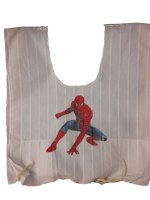 Cotton Tzitzis with Silk Screened Red Super Hero Design Size 3