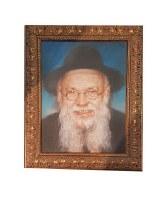 Framed Picture of Rav Pam in Gold Frame