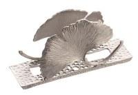 Metal Napkin Holder Flower Design Silver